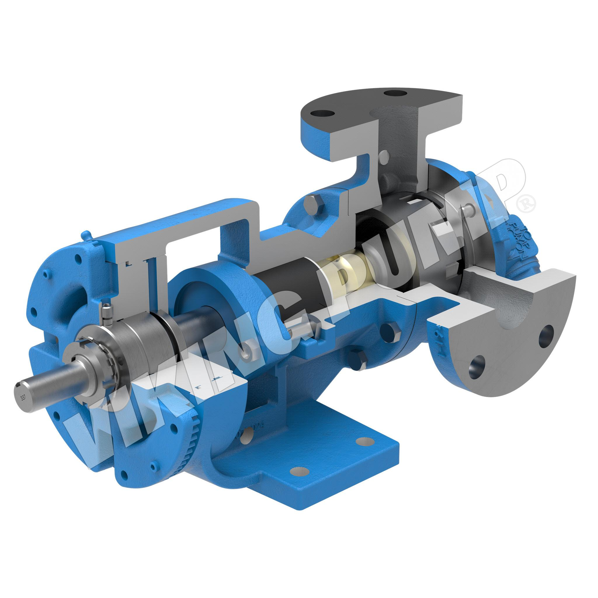 Model H123A, Foot Mounted,Packed Gland, Relief Valve Pump