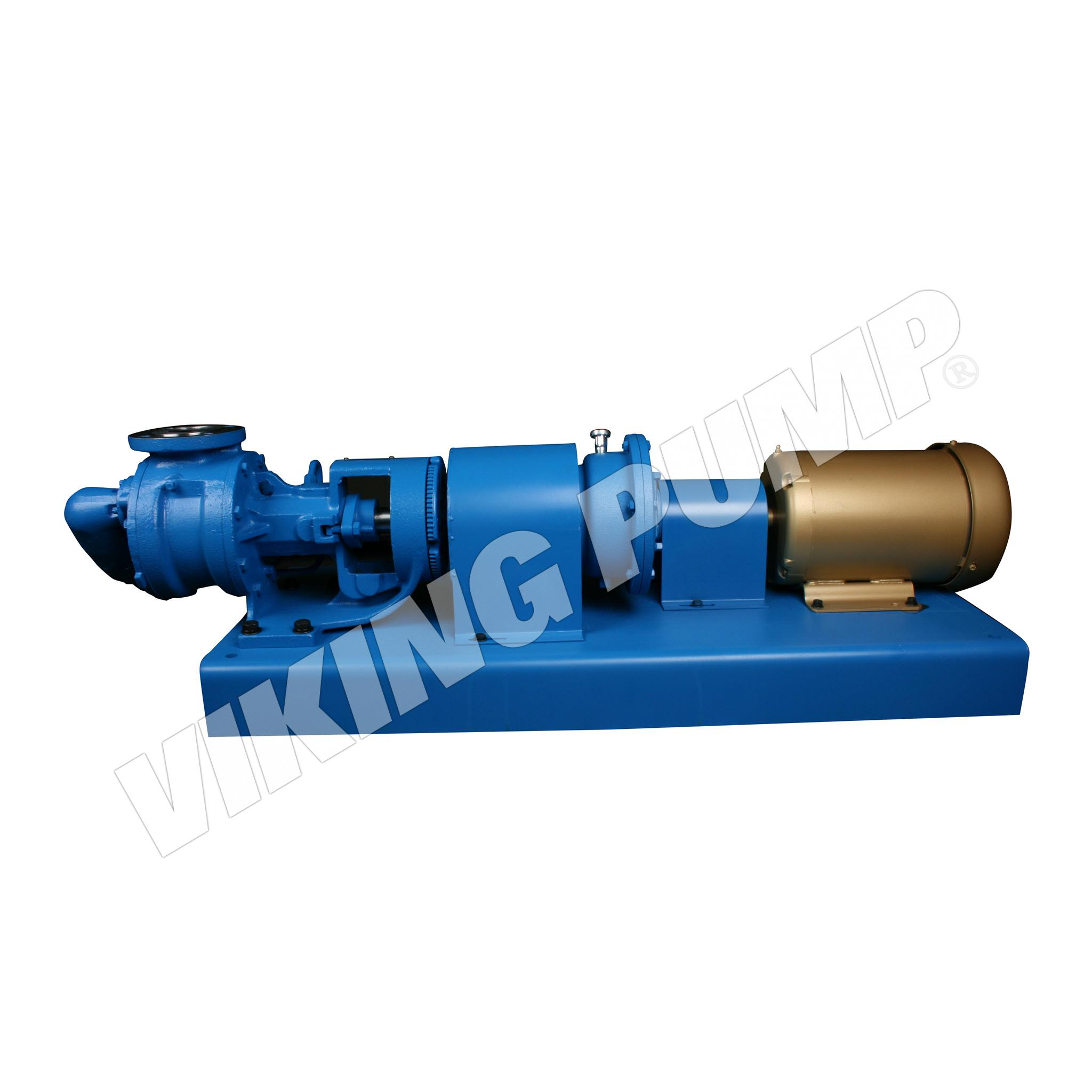 Model K4123A, Foot Mounted, Mechanical Seal, Relief Valve Pump with R Drive Unit