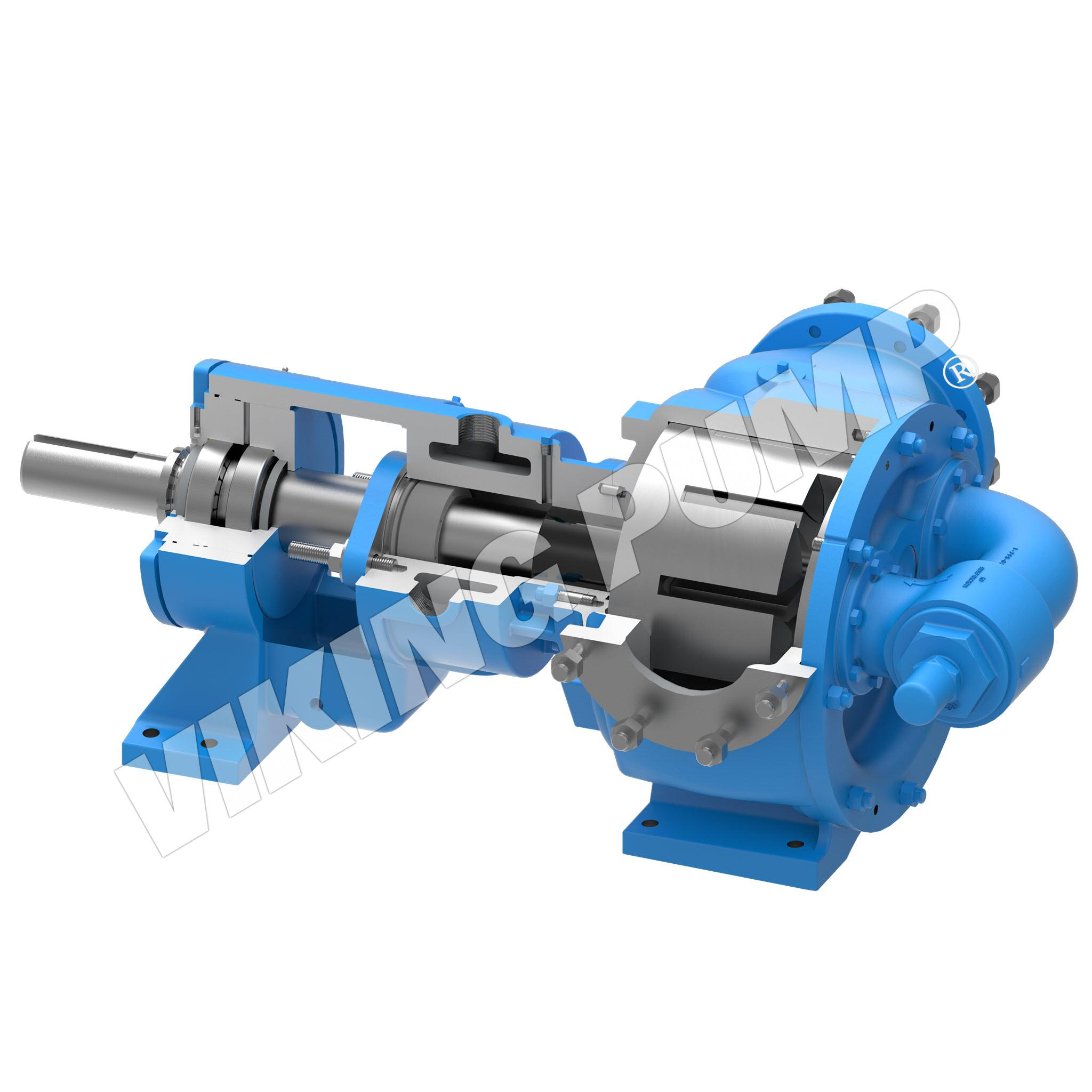 Model N4324A, Foot Mounted, Mechanical Seal, Relief Valve Pump