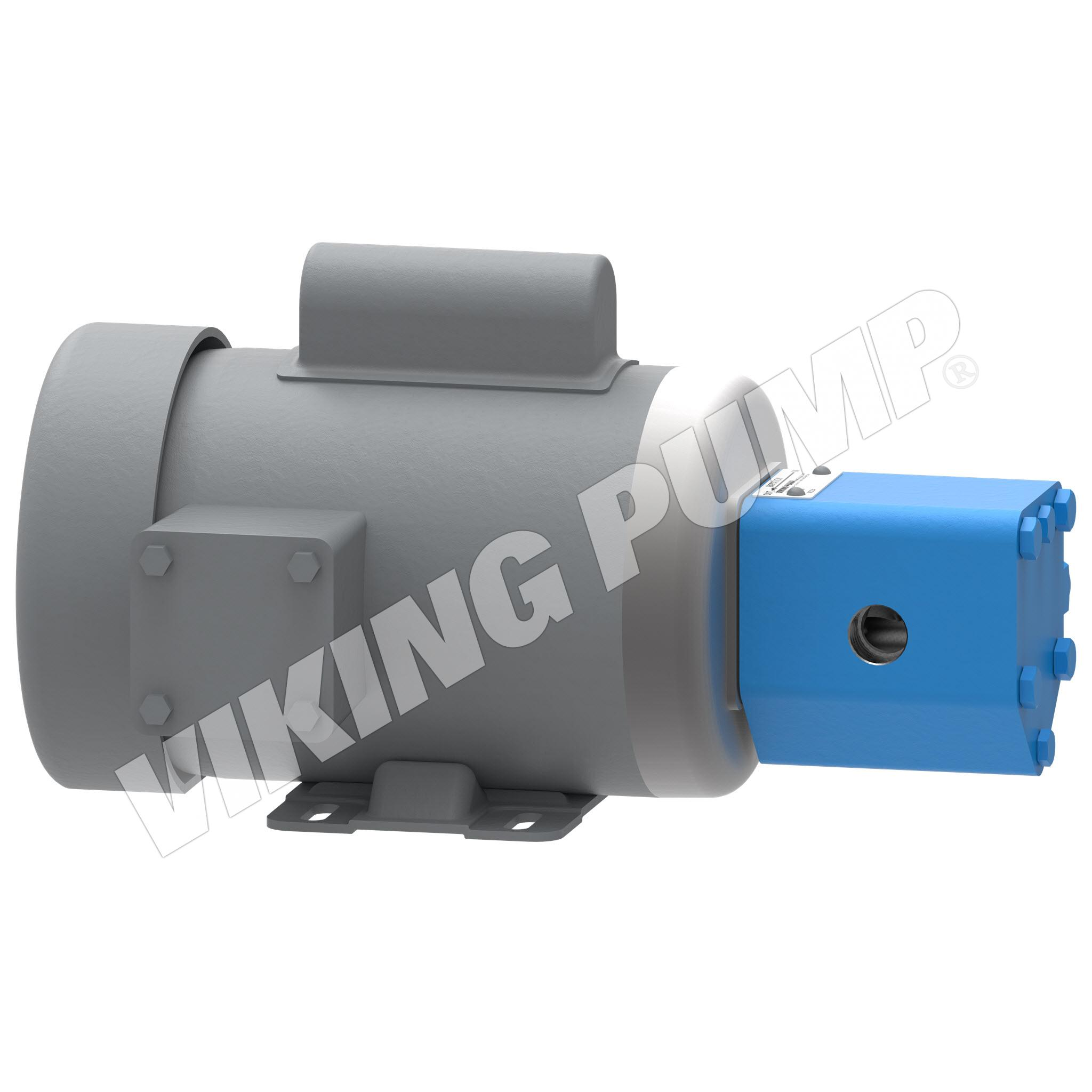 Model SG-0525, M4-Mounted, Lip Seal, Relief Valve Pump with Motor