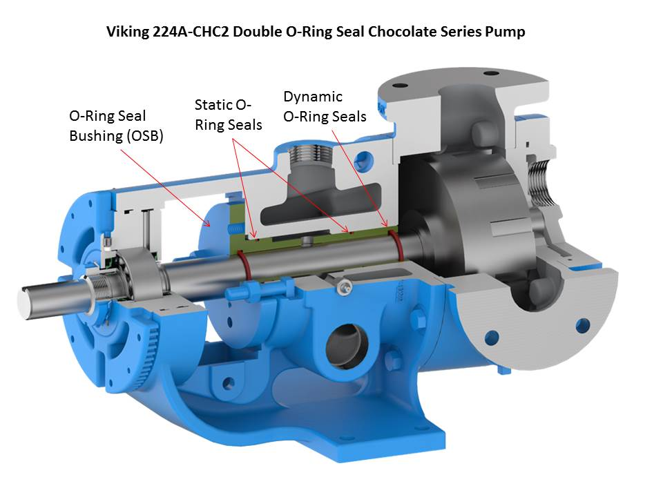 224A-CHC2 Double O-Ring Seal Chocolate Series Pump