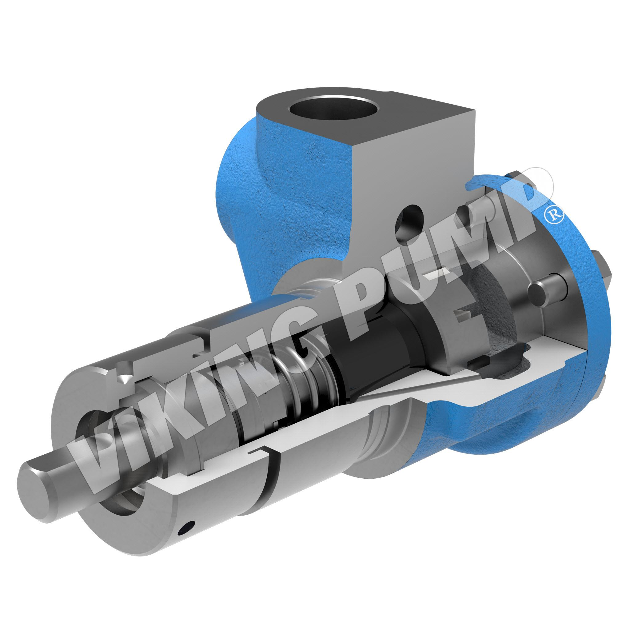 Model F456, Unmounted, Mechanical Seal, Less Relief Valve Pump