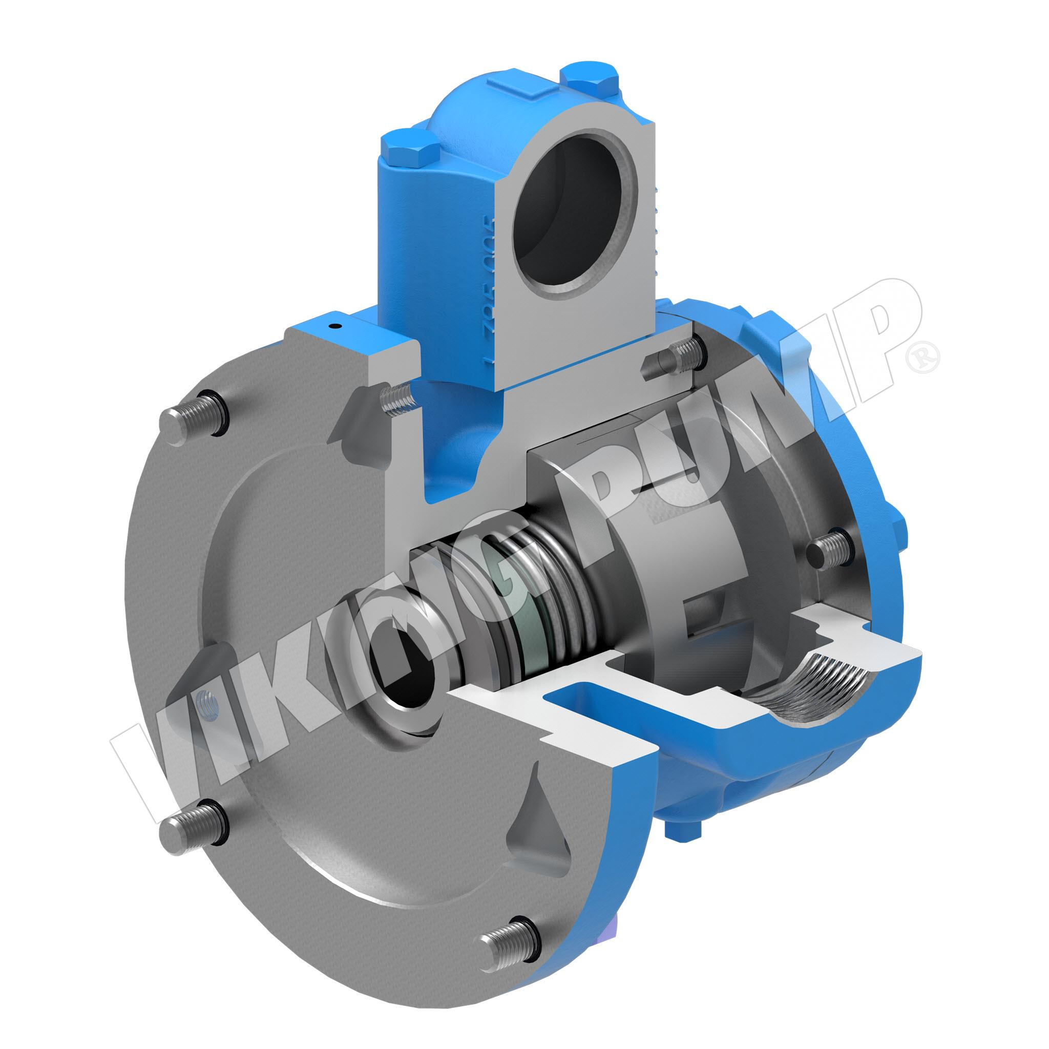 Model HJ475, Unmounted, Close-Coupled, Mechanical Seal, Relief Valve Pump