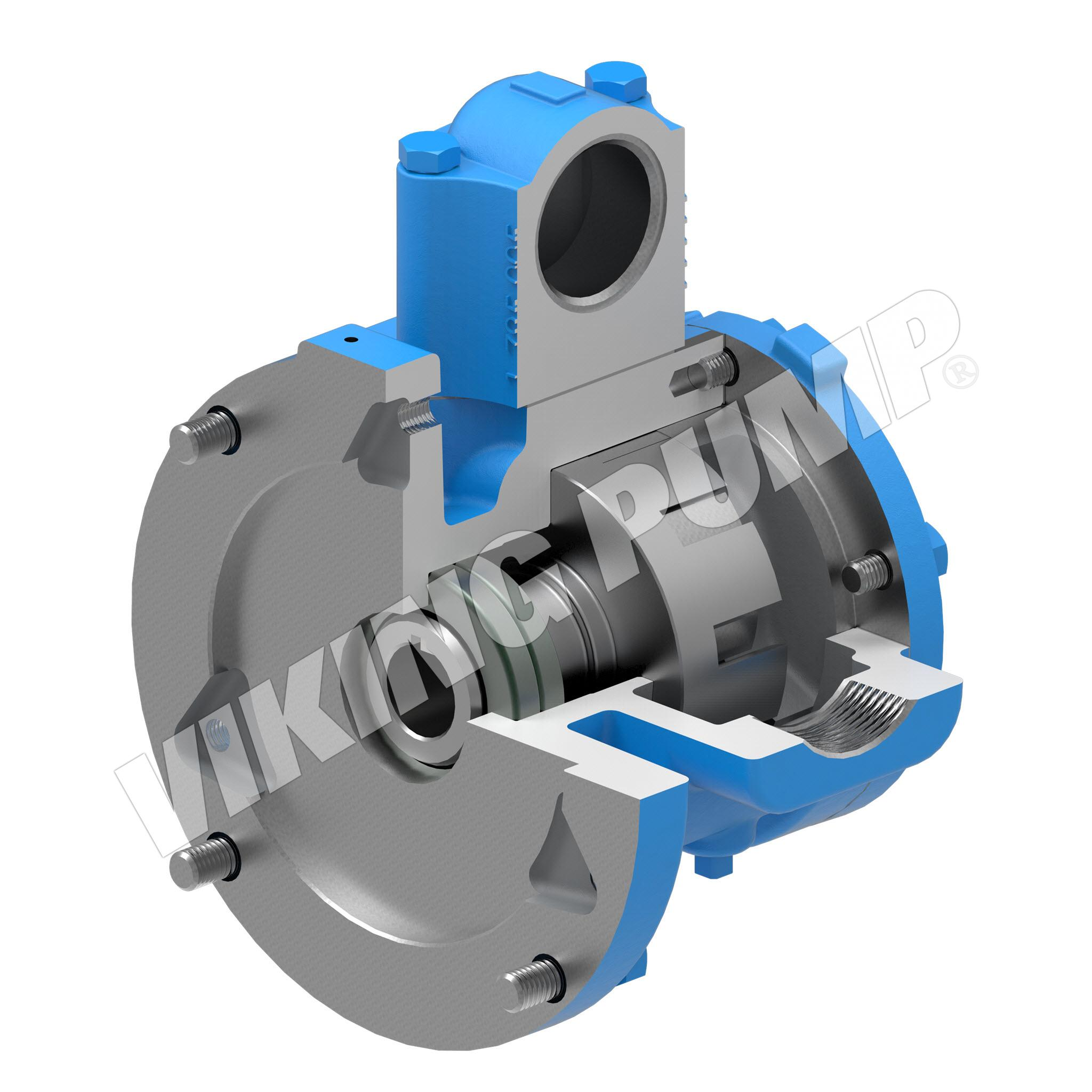 Model HJ75, Unmounted, Close-Coupled, Lip Seal, Relief Valve Pump
