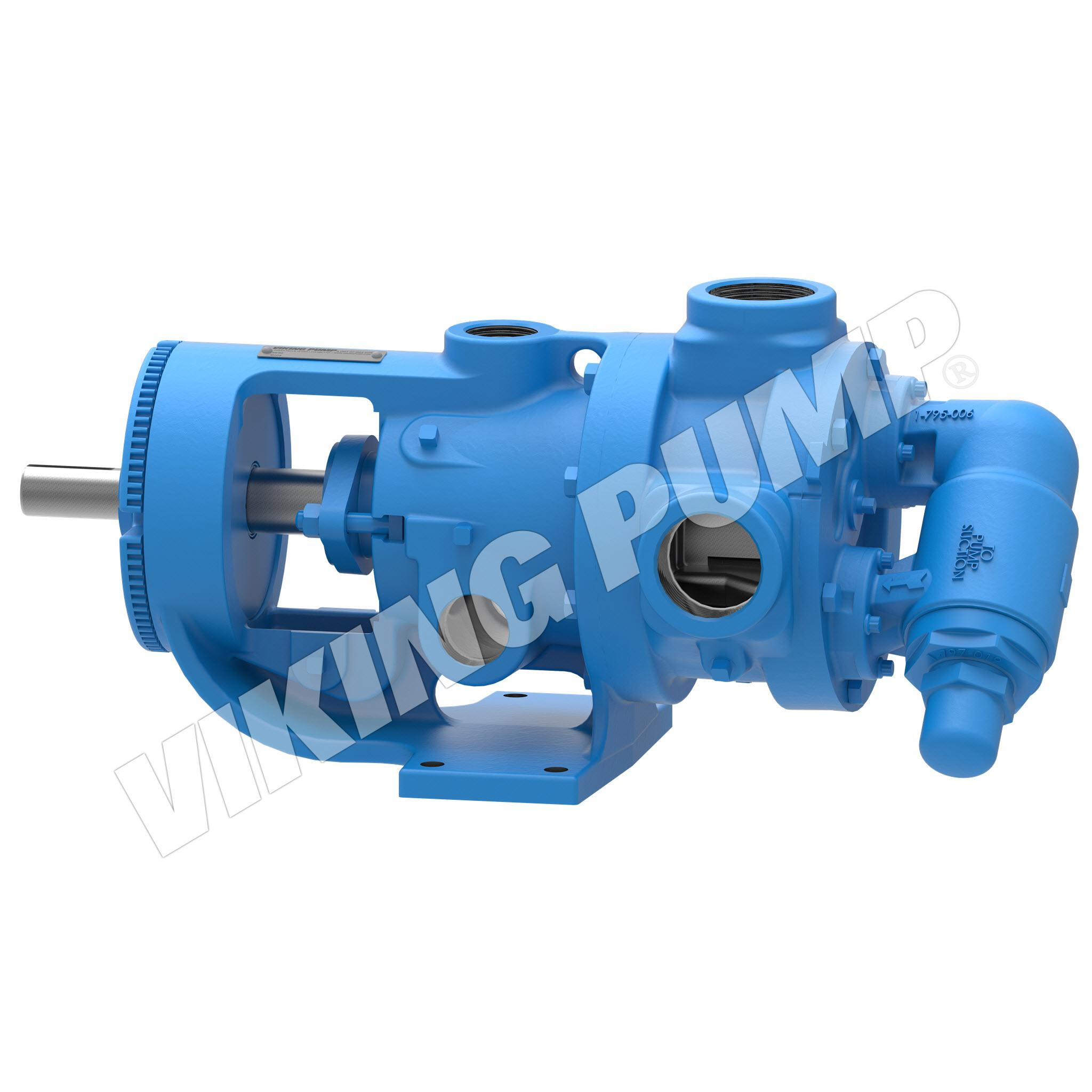 Model K226A, Foot Mounted, Packed Gland Pump w/Optional Relief Valve