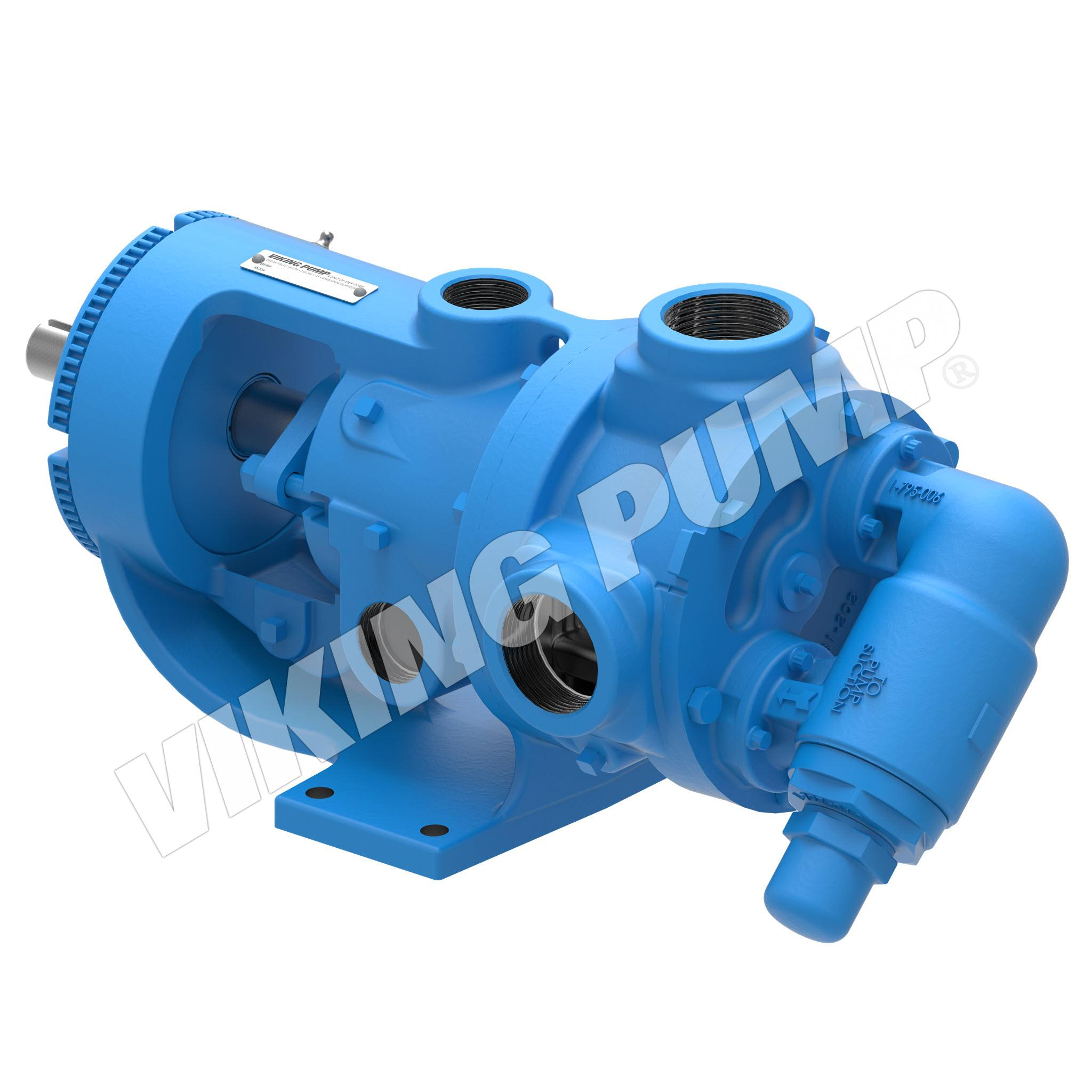 Model K224AE, Foot Mounted, Packed Gland Pump w/Optional Relief Valve