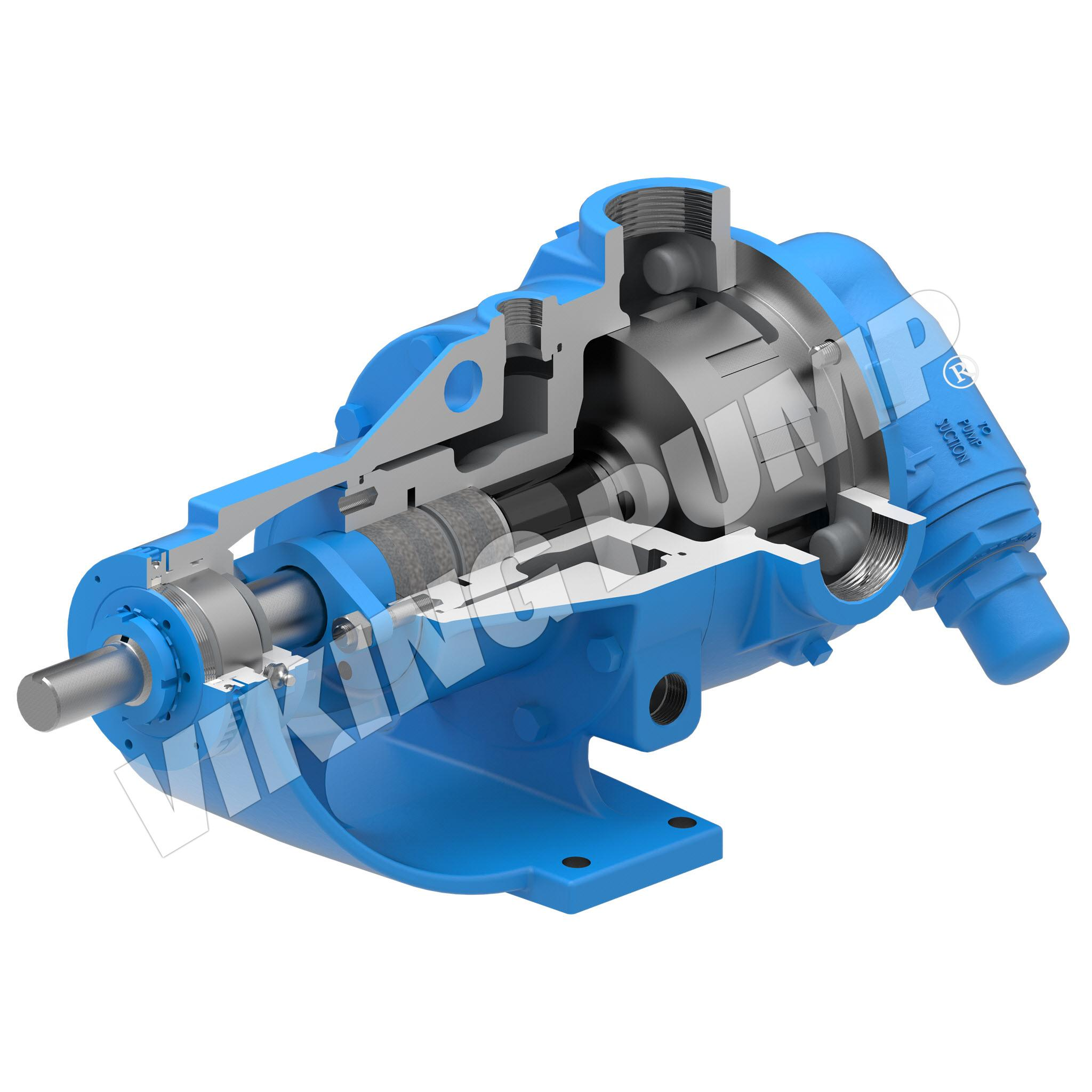 Model K724, Foot Mounted, Packed Gland, Relief Valve Pump