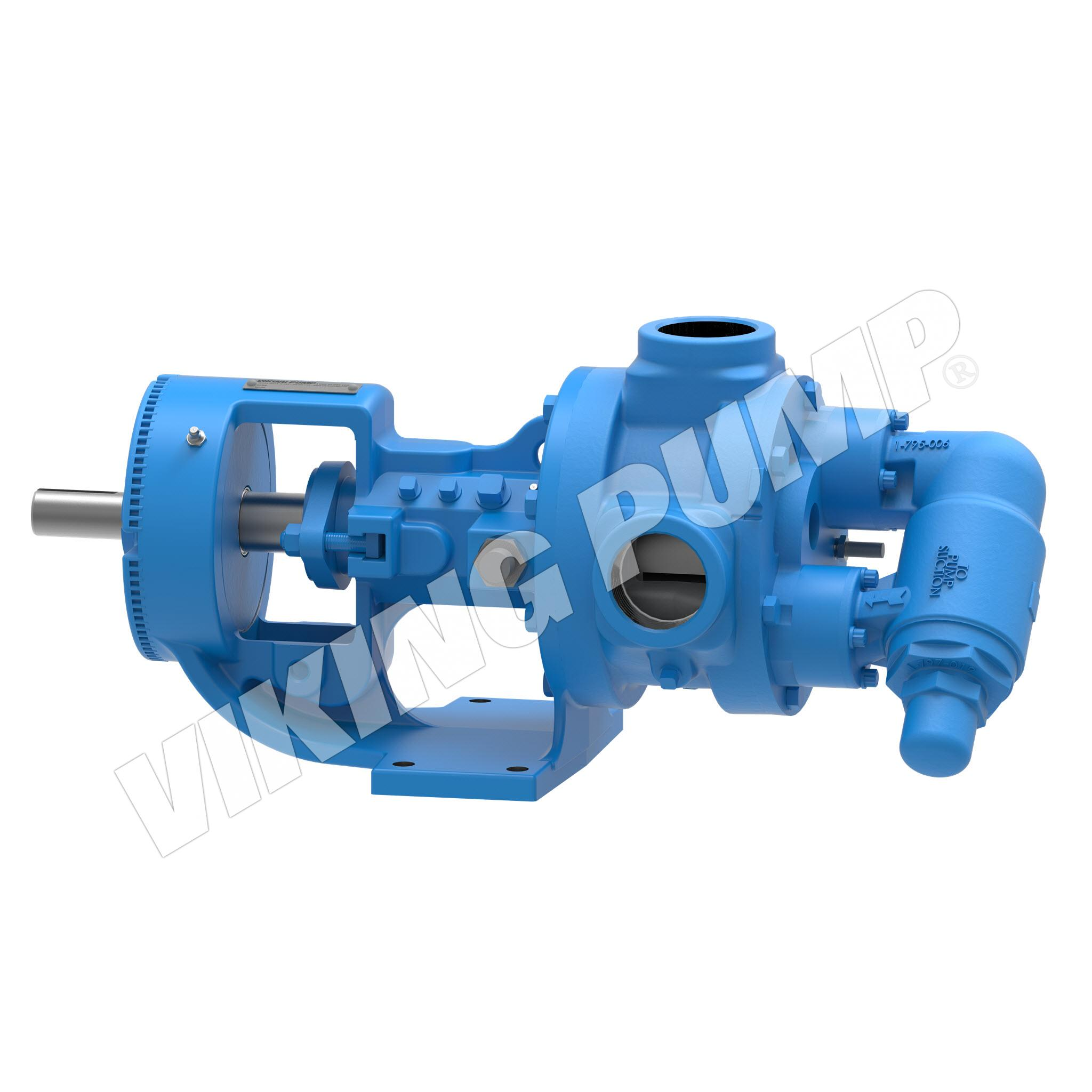 Model KK124E, Foot-Mounted, Electrically-Heated, Relief Valve Pump
